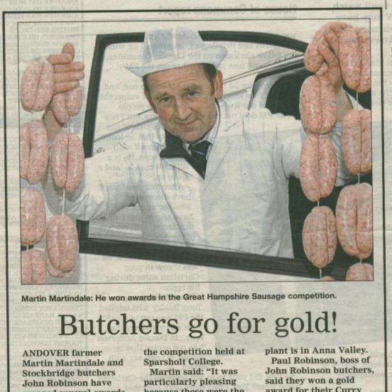 Butchers go for Gold